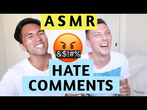 REACTING TO HATE COMMENTS | ASMR (PART 1)