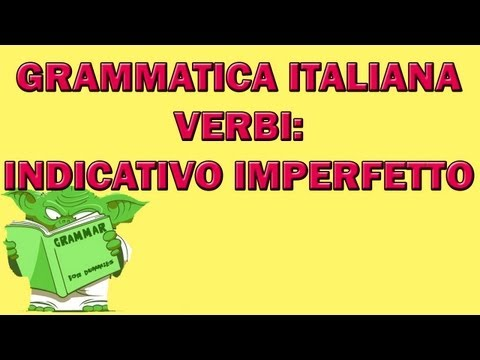 Indicativo imperfetto from YouTube · Duration:  6 minutes 16 seconds