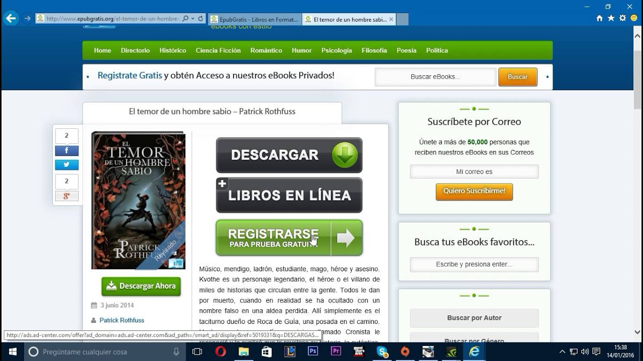 Descargar Libros Gratis Epub Sin Registrarse Tutorial Descargar Epub Gratis 2016