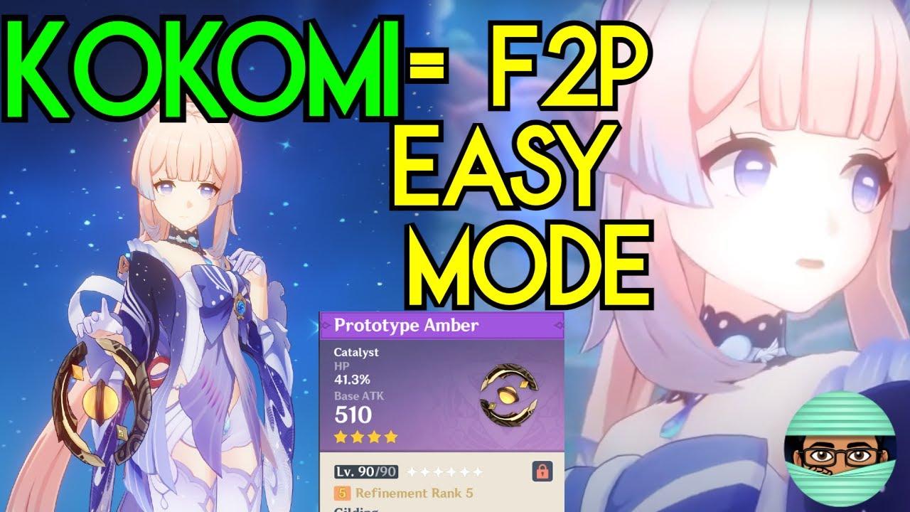 C0 Kokomi 6/6/6 Level 90 F2P Friendly First Impression R5 Prototype Amber | Genshin Impact