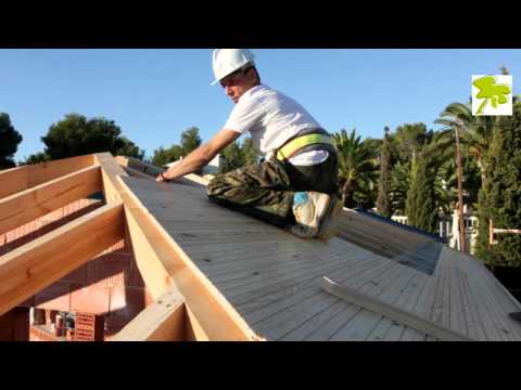 Edificativa construccion tejado de madera youtube for Tejados de madera vista