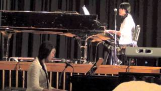 "[ellen and alina] ""Baby Baby"" - 4men (English) Vocal and Piano Duet LIVE"