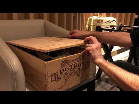 Petrus 1998 case opening by LeDomduVin