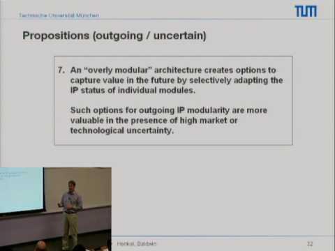 Topics in Open Innovation: Joachim Henkel Technical University of Munich Chair, Professor