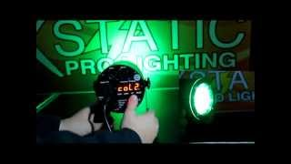 X Par86LED Stratos PAR Wash Fixture with 86 RGB LEDs DMX, Sound and Auto. REVIEW