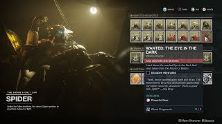 WANTED: The Eye In The Dark Location Solo / Powerful Engram (Spider Bounty) [Destiny 2 Forsaken]