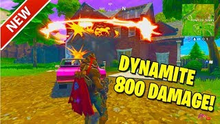 DYNAMITE GAMEPLAY! I BLOW UP A HOUSE IN GAME! FORTNITE BATTLE ROYALE