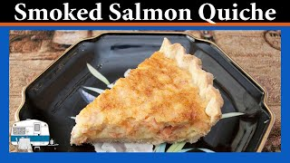 Smoked Salmon Quiche - White Trash Cooking