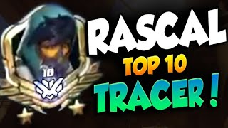 RASCAL TOP 10 ASIA REGION - TRACER GAMEPLAY! [ OVERWATCH SEASON 23 TOP 500 ]