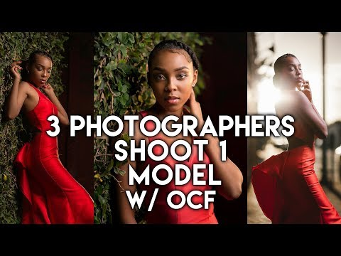 3 PHOTOGRAPHERS SHOOT THE SAME MODEL w/ Off Camera Flash (OCF)