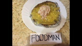Крошка-картошка с крабовым салатом: рецепт от Foodman.club