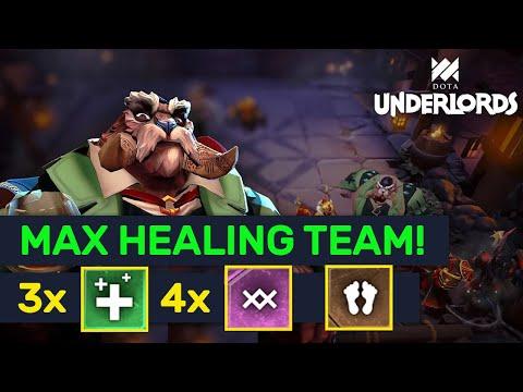 MAX HEALING TEAM! 3 Healers + 4 Warlocks Trolls! | Dota Underlords