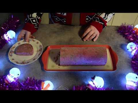 recette-de-noël🎄🎄🎄une-bûche-marbrée-fruit-rouge-chocolat-glacée
