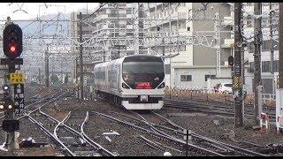 【E257 Azusa  Matsumoto station where it rains.②】中央東線 特急スーパーあずさ & あずさ 290  あずさ3号 南小谷行き