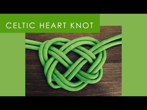 How To Make A Celtic Heart Knot Youtube