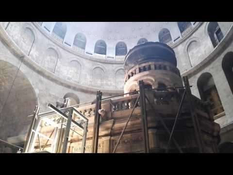 Jesus' tomb renovated for first time in 200 years. June 2016. Jerusalem. Israel