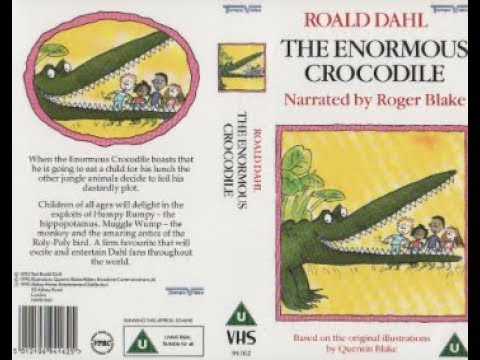Roald Dahl's The Enormous Crocodile (1990 UK VHS)