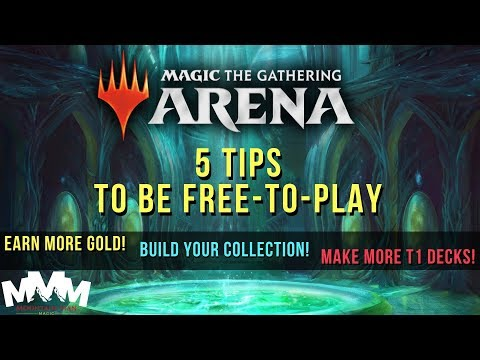 MTG Arena Tips And Tricks Beginners Guide - Free To Play And Collection Building Tips!