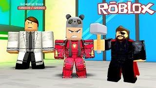 Demir Adam ve Thor Kilidini Açtık!! - Panda ile Roblox Superhero Simulator