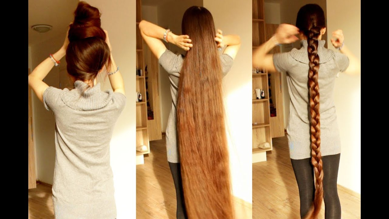 grow very long hair / the longest hair of youtube / super braid