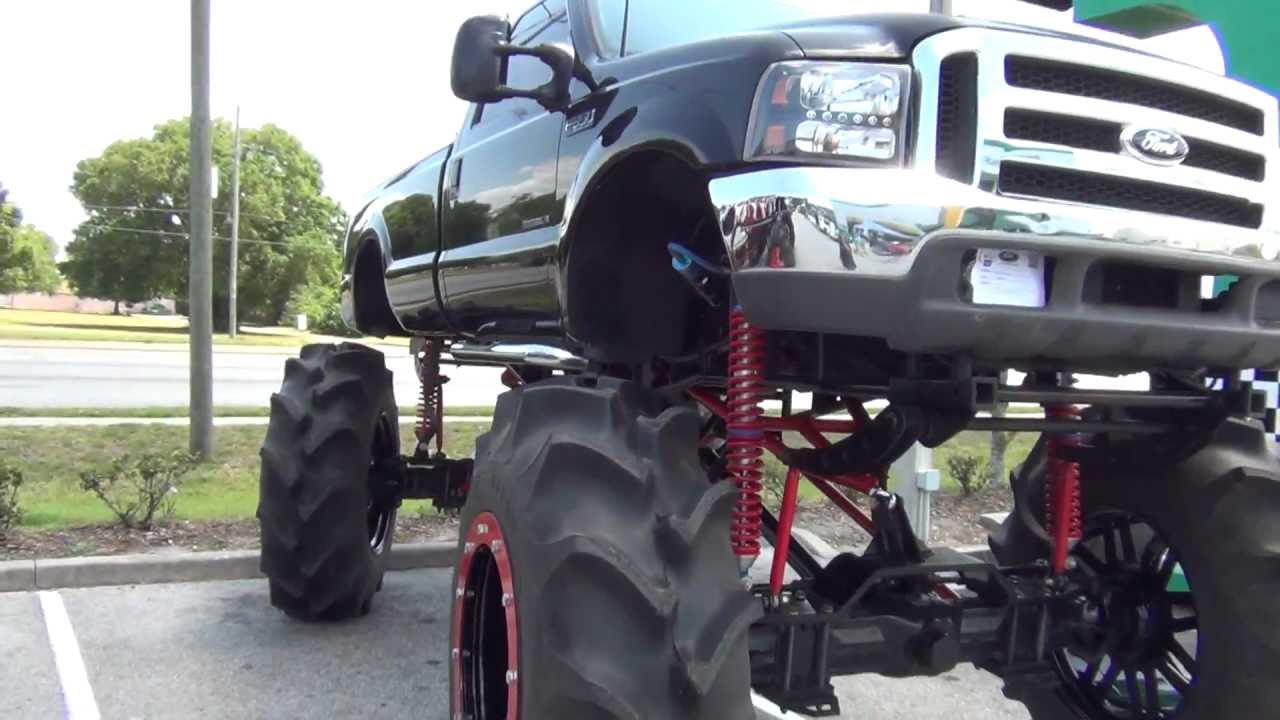 HUGE BIG TALL REDNECK TRUCK I SAW IN FLORIDA WITH 4 WHEEL ...