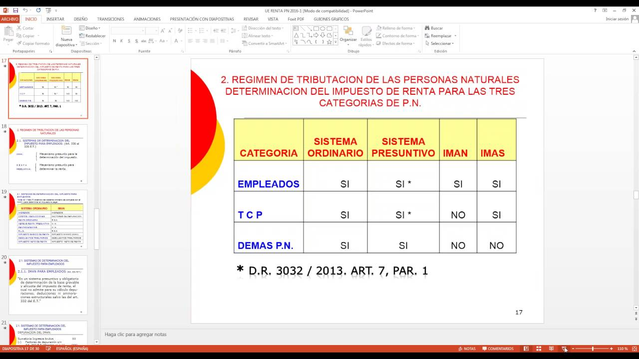 Seminario Taller Declaración de Renta Personas Naturales - Año ...