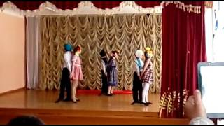 "Танец ""За четыре дня до войны"".Исполняют учащиеся 4б класса 12 школы г.Семей"