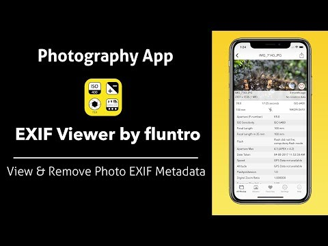 Exif Viewer by Fluntro iOS App - Exif Viewer App