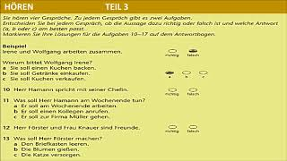 Hörverstehen Prüfung B1- B1 HÖREN TELC TEST