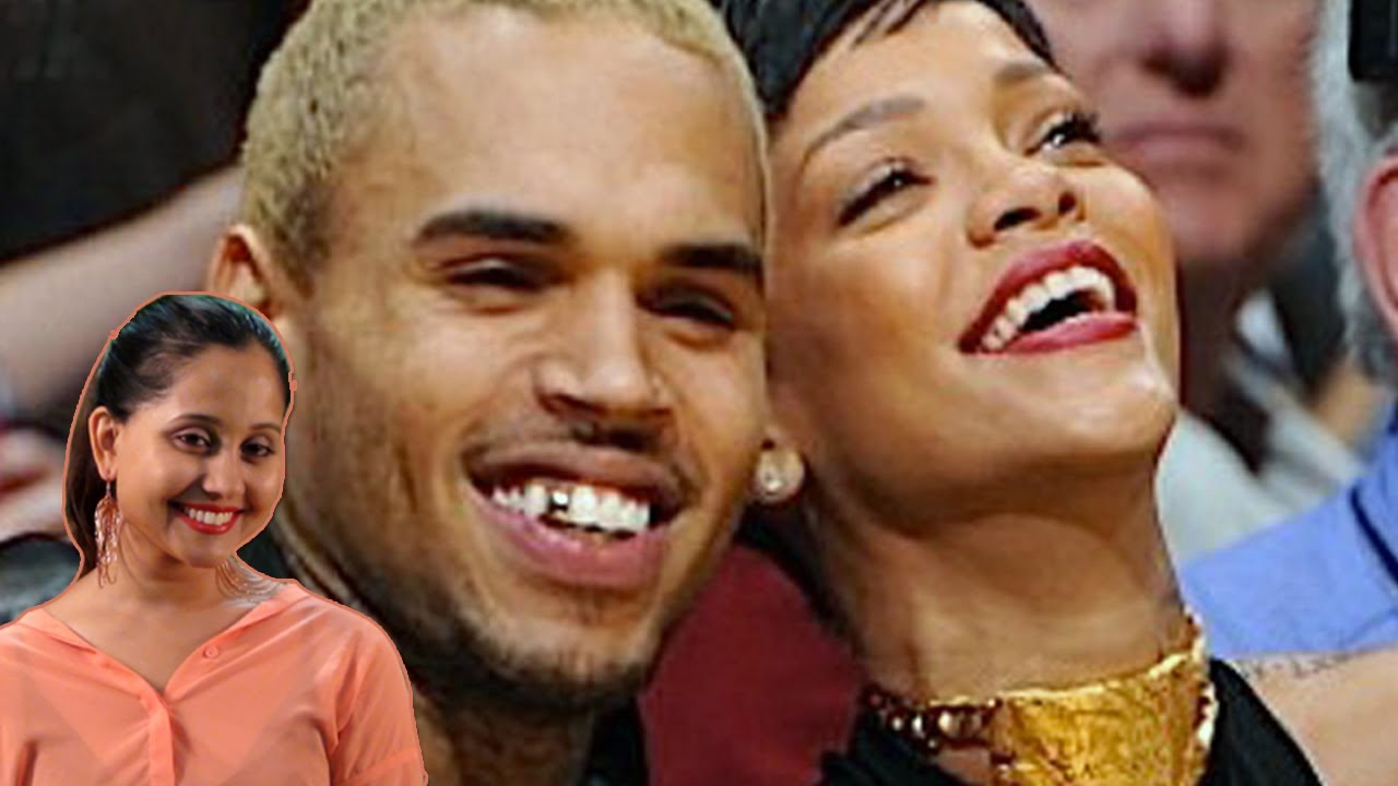 Chris brown & Rihanna At the Lakers Game Throwback - YouTube