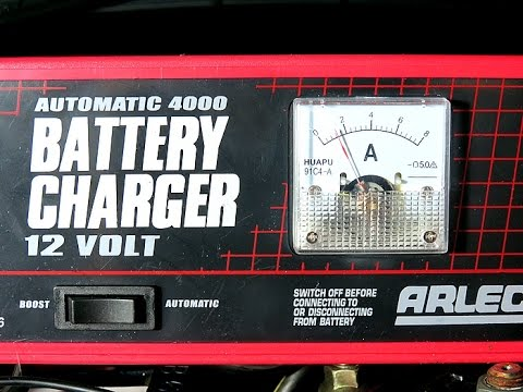 Charging 60 Ah battery (2 hours later) Now charging at 1.3 Amps.