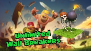 Clash of Clans - Unlimited Wall Breaker Attack against Mohammed Maher! [Top Play Raid]