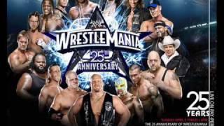 WWE WrestleMania 25 Anniversary theme song - War Machine