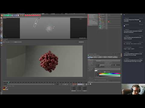 Redshift C4D Color Layers, Particles and Volumes