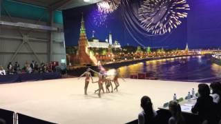 Художественная гимнастика. Первенство Москвы 2016. СШОР 74. 1 место. 3 разряд. 2007 год