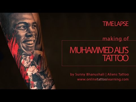 70c7d4fa3 Time Lapse - Making of Muhammed Ali Tattoo by Sunny Bhanushali - Advance  Tattoo Tutorial