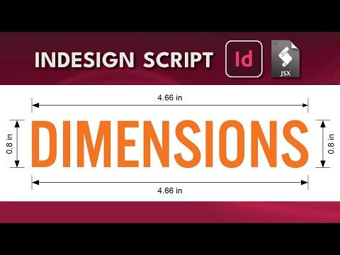 InDesign Script Dimensions