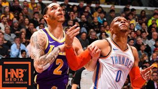 LA Lakers vs OKC Thunder Full Game Highlights | 01/02/2019 NBA Season