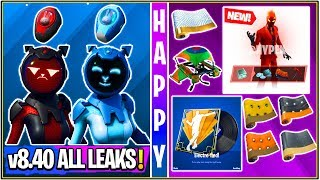 *NEW* Fortnite: All v8.40 Leaked Skins & Emotes! (Gemini, Electro Music Pack, Gliders, Wraps!)