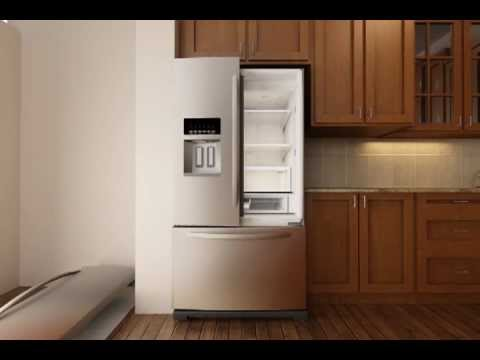 Removing the Doors on a French Door Refrigerator with
