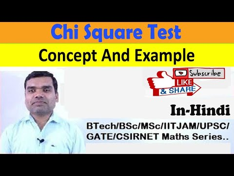 Chi Square Test in hindi (concept & example)