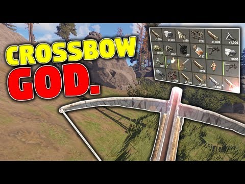 I AM THE CROSSBOW GOD | Rust Solo Survival (Part 4)