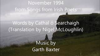 November 1994 from Songs from Irish Poets by Garth Baxter
