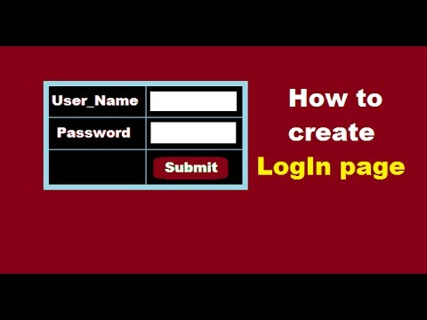 How To Create Login Page In Html Using Notepad