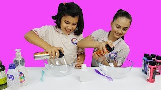 SLİME CHALLENGE | Okul arkadaşımla slime çok eğlenceli oldu 😍😜