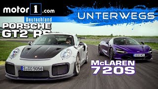 Porsche 911 GT2 RS vs. McLaren 720S | UNTERWEGS mit Daniel Hohmeyer