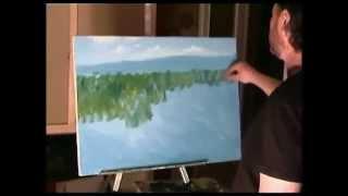 Урок живописи Игоря Сахарова Цветущие травы, деревья