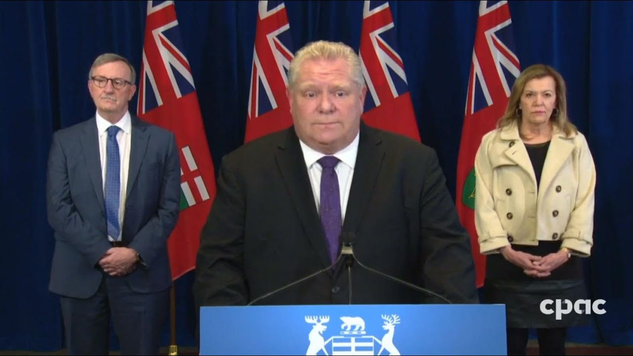Premier Doug Ford On Ontario S Covid 19 Projections New Essential Businesses List April 3 2020 Youtube