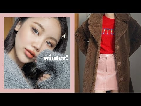 All로드샵🌹 Winter Everyday Makeup & Daily Outfits 겨울 데일리 아이메이크업 & 자주입는 두가지 룩 | kinda cool