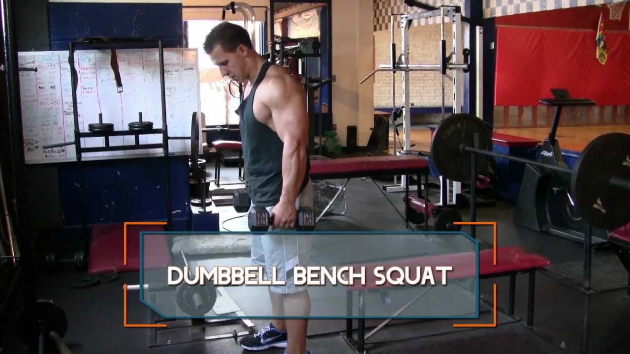 Dumbbell Bench Squat How To Do Dumbbell Bench Squats
